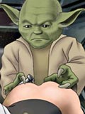 sex Master Yoda from Star wars shows his pupils how to fuck horn