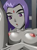 hentais Raven from Teen Titans put off her coat and play with dildo toonguide