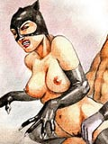 new Nude Batman fucking sexy catwoman at all her holes witches