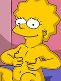 sucking Hot Lisa Simpson posing and spreading in the kitchen fuck