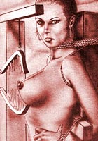 shocking cartoon Amazing sado mazo artworks with specific bdsm devices