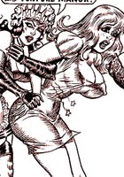 free toon pics Sexy mistress hardly spanking her slaves