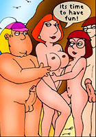Lisa Simposn Griffins family on holiday monkey porn sex