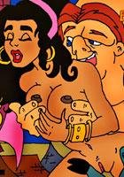 porn Frolo licking Esmeralda's pussy