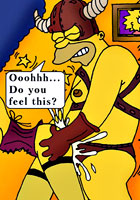 toon party Bart Simpson is kim possible shego comix