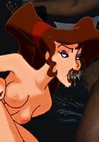 a Megara blowing three hard anal hentai toon pics