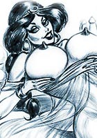 famous cartoon films Naked jasmine hypnozed by kim hentai