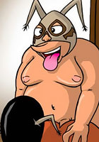 Toon party Girl heavyweight gets a lesson toon comics