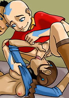 free Avatar Katara round asshole teen titans cartoon porn
