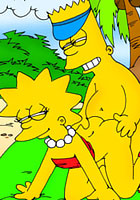 cartoon Gorgeous Lisa Simpson with tight asshole takes new