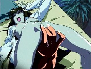 Terrified hentai chokes on a massive monstercock