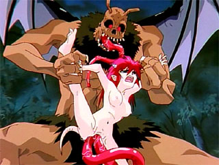Tiny girl double penetrated by huge monster