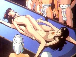 anime rubbing their clits against eachother