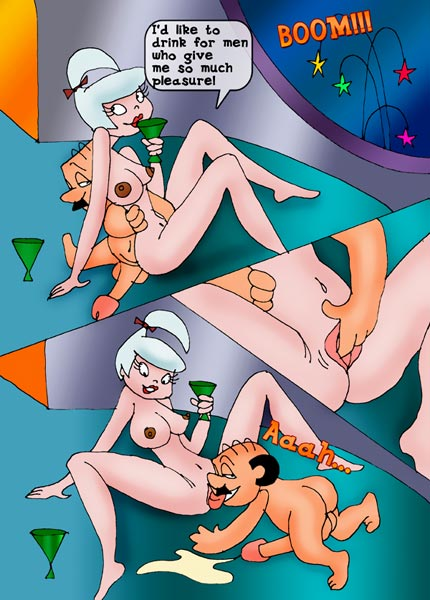Horny Jane Jetson Making Dick Friction And Cumming Cartoon Porn