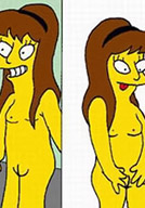 Pervert Marge Simpson in lesbian action