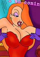 Kinky Jessica Rabbit getting poked and getting off