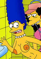Marge Simpson is drilled and gets drenched with cum