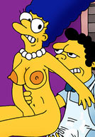 Cheating Samantha gets real hard fingered by Homer