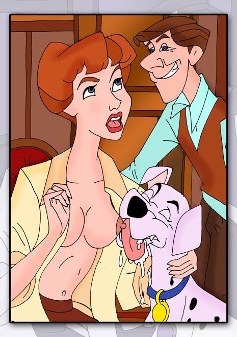фото секс с далматинцем