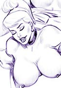 jessiaca and Hot Boobs fucked by Pinnocio toon party porn