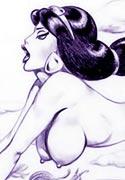 screenshot from Jasmine with dicks cartoon porn sketch