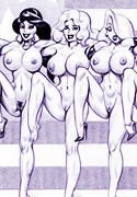 screenshot from Jess, Lara, Daphne Annie naked on the sketch