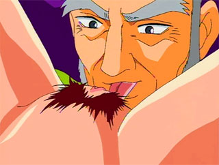 Nice little hentai with hard sucks off an elder man